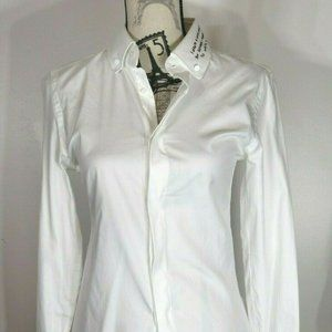 GUCCI Long letter white embroidered shirt, white